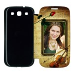 Music Samsung Galaxy S3 Flip Cover Case