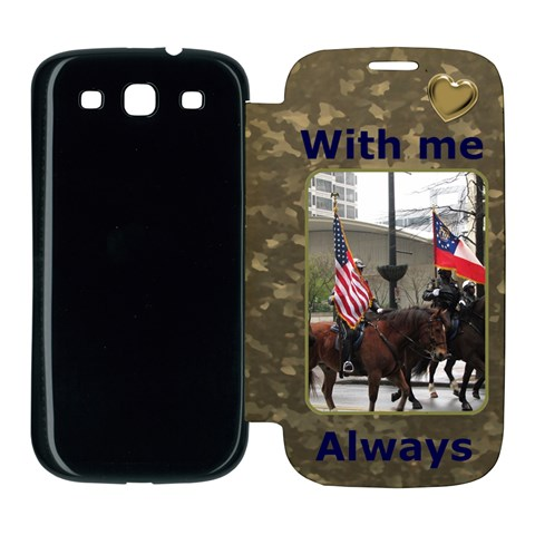 With Me Always Samsung Galaxy S3 Flip Cover Case By Deborah   Samsung Galaxy S3 Flip Cover Case   Vd13ayl2wloo   Www Artscow Com Front