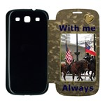 With me Always Samsung Galaxy S3 Flip Cover Case
