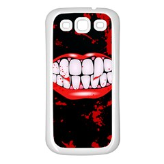 The Phone With Bite Samsung Galaxy S3 Back Case (white)