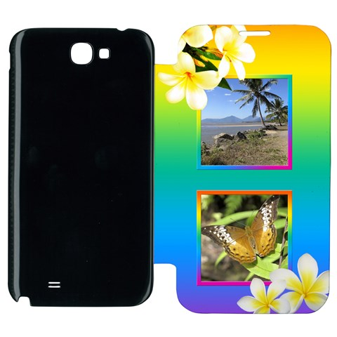 Tropical Samsung Galaxy Note 2 Flip Cover Case By Deborah   Samsung Galaxy Note 2 Flip Cover Case   Ohtzkeqyn1hq   Www Artscow Com Front