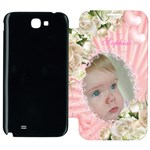 Girl Samsung Galaxy Note 2 Flip cover Case