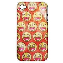 Epic Face Apple Iphone 4/4s Hardshell Case (pc+silicone) by Contest1775858