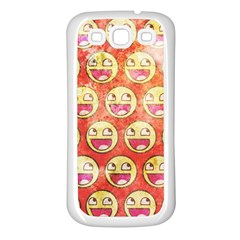 Epic Face Samsung Galaxy S3 Back Case (white) by Contest1775858