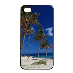 Relaxing On The Beach Apple Iphone 4/4s Seamless Case (black)