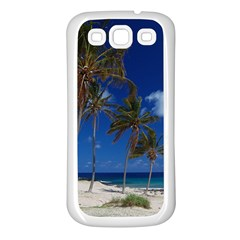 Relaxing On The Beach Samsung Galaxy S3 Back Case (white)