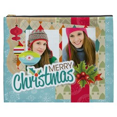 Merry Christmas By Merry Christmas   Cosmetic Bag (xxxl)   858ulu7wtc75   Www Artscow Com Front