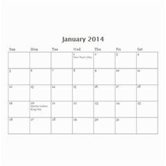 Calendar By C1   Wall Calendar 8 5  X 6    Qcvkz5g70y4g   Www Artscow Com Jan 2014