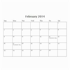 Calendar By C1   Wall Calendar 8 5  X 6    Qcvkz5g70y4g   Www Artscow Com Feb 2014