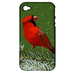 Cardinal Apple Iphone 4/4s Hardshell Case (pc+silicone)
