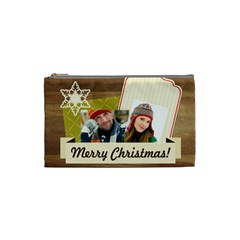 Merry Christmas By Merry Christmas   Cosmetic Bag (small)   Qdt2cgfnw00u   Www Artscow Com Front