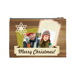 Merry Christmas By Merry Christmas   Cosmetic Bag (large)   59wr43xte22p   Www Artscow Com Back
