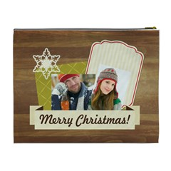 Merry Christmas By Merry Christmas   Cosmetic Bag (xl)   9g2bp0t2su36   Www Artscow Com Back