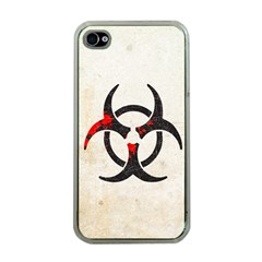 Biohazard Symbol Apple Iphone 4 Case (clear) by Contest1775858