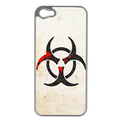 Biohazard Symbol Apple Iphone 5 Case (silver)