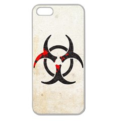 Biohazard Symbol Apple Seamless Iphone 5 Case (clear) by Contest1775858