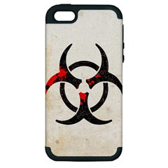 Biohazard Symbol Apple Iphone 5 Hardshell Case (pc+silicone) by Contest1775858