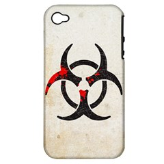 Biohazard Symbol Apple Iphone 4/4s Hardshell Case (pc+silicone) by Contest1775858