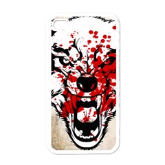 Blood Wolf Apple Iphone 4 Case (white) by Contest1775858