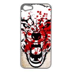 Blood Wolf Apple Iphone 5 Case (silver) by Contest1775858