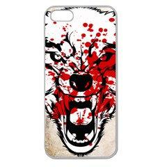 Blood Wolf Apple Seamless Iphone 5 Case (clear) by Contest1775858