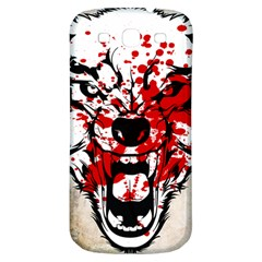 Blood Wolf Samsung Galaxy S3 S Iii Classic Hardshell Back Case by Contest1775858