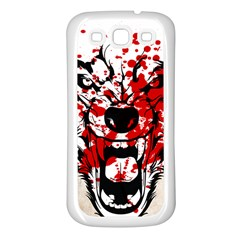 Blood Wolf Samsung Galaxy S3 Back Case (white) by Contest1775858