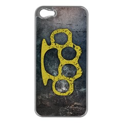 Brass Knuckles Apple Iphone 5 Case (silver)