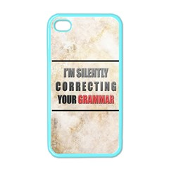 Silently Correcting Your Grammar Apple Iphone 4 Case (color)