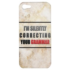 Silently Correcting Your Grammar Apple Iphone 5 Hardshell Case