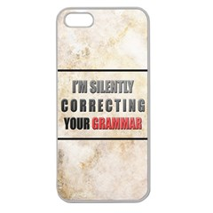 Silently Correcting Your Grammar Apple Seamless Iphone 5 Case (clear)