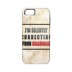 Silently Correcting Your Grammar Apple Iphone 5 Classic Hardshell Case (pc+silicone)