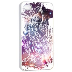 Cosmic Owl Apple Iphone 4/4s Seamless Case (white) by Contest1775858