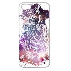 Cosmic Owl Apple Seamless Iphone 5 Case (clear)