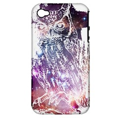 Cosmic Owl Apple Iphone 4/4s Hardshell Case (pc+silicone) by Contest1775858