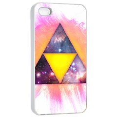 Cosmic Triple Triangles Apple Iphone 4/4s Seamless Case (white) by Contest1775858