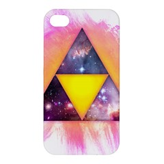 Cosmic Triple Triangles Apple Iphone 4/4s Premium Hardshell Case by Contest1775858