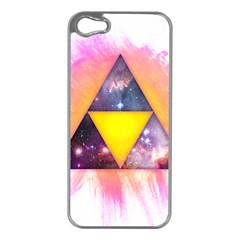 Cosmic Triple Triangles Apple Iphone 5 Case (silver) by Contest1775858