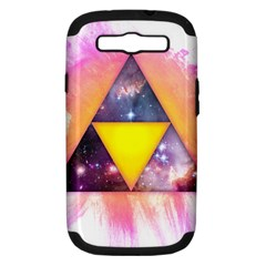 Cosmic Triple Triangles Samsung Galaxy S Iii Hardshell Case (pc+silicone) by Contest1775858