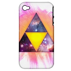 Cosmic Triple Triangles Apple iPhone 4/4S Hardshell Case (PC+Silicone) by Contest1775858