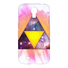 Cosmic Triple Triangles Samsung Galaxy S4 I9500/i9505 Hardshell Case by Contest1775858