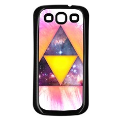 Cosmic Triple Triangles Samsung Galaxy S3 Back Case (black) by Contest1775858