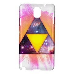 Cosmic Triple Triangles Samsung Galaxy Note 3 N9005 Hardshell Case by Contest1775858