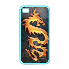 Golden Tribal Dragon Apple Iphone 4 Case (color)