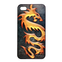 Golden Tribal Dragon Apple Iphone 4/4s Seamless Case (black) by Contest1775858