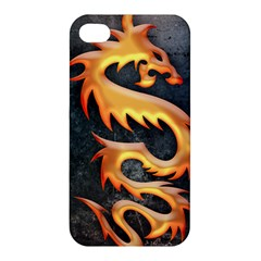 Golden Tribal Dragon Apple Iphone 4/4s Hardshell Case