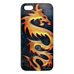Golden Tribal Dragon Iphone 5 Premium Hardshell Case