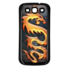 Golden Tribal Dragon Samsung Galaxy S3 Back Case (black)