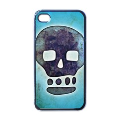 Textured Skull Apple Iphone 4 Case (black)