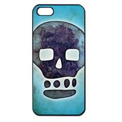 Textured Skull Apple Iphone 5 Seamless Case (black)